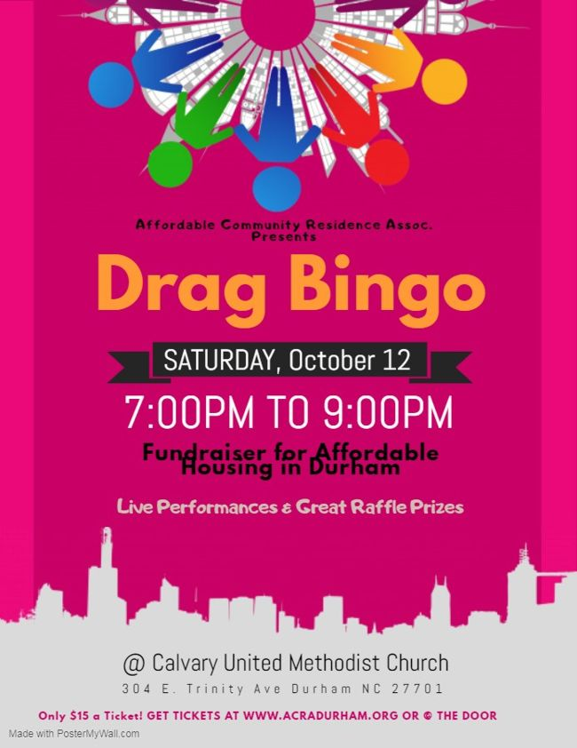 Drag Bingo 2019 Oct