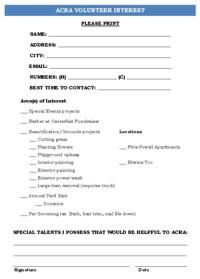 Volunteer Interest Form